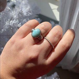 Sterling Silver Blue Beryl Ring